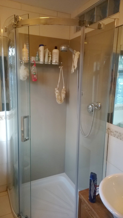 Painted Glass Shower