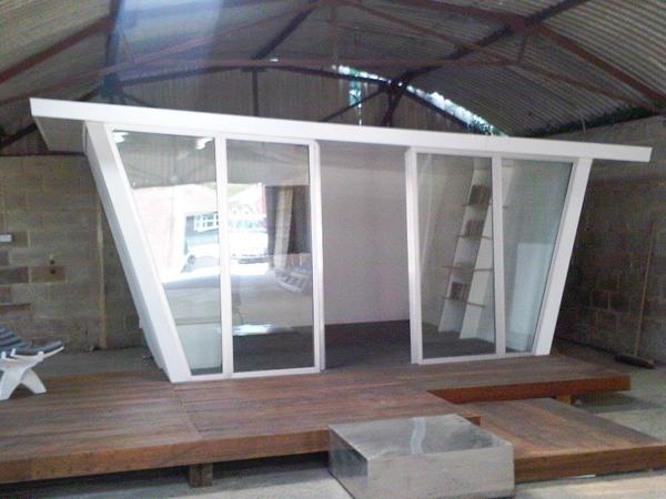 Angled room module