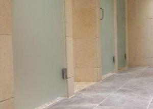 Sandblasted doors