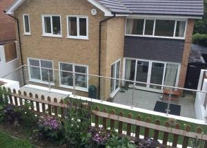Glazed exterior walkway
